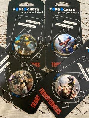 PopSockets [ 泡泡騷 ] 手機支架貼 變形金剛系列 Transformers 四款合售 全新品