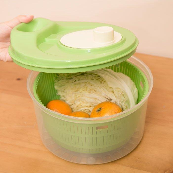洗淨脫水器 沙拉蔬果 白米蔬菜洗淨 蔬果濾水器 沙拉脫水器 蔬菜脫水器 瀝水器 GL-9553[金生活]