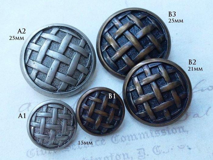 DAda緞帶‧I35111-15mm/21mm復刻羅馬風格古銀.古銅色鈕扣(自選)2~1個$10高品質