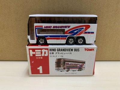 [現貨]Tomica Tomy 舊紅標 日製 No.1 巴士
