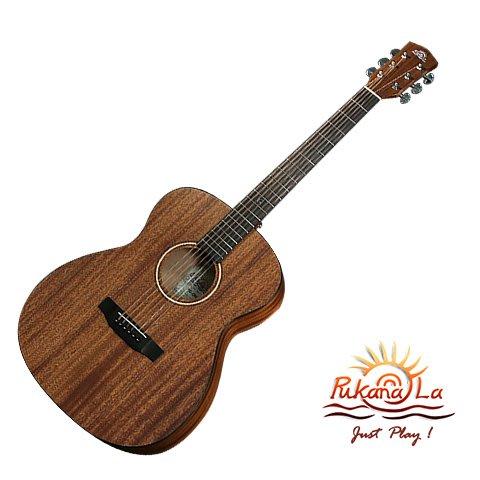 Pukanala PG-OM2 + Skysonic FS-1 無線 拾音器 沙比利木 單板 民謠吉他 【他,在旅行】