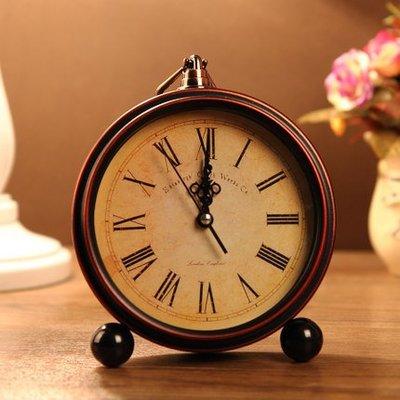 hello小店-歐式復古田園床頭鐘創意 靜音臥室鬧鐘迷你掛鐘書桌臺鐘座掛學生#計時器#鬧鐘#時鐘#