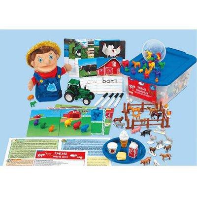 【晴晴百寶盒】美國進口 主題教學2-農場 LAKESHORE 尋寶遊戲感統教具益智遊戲環保無毒玩具遊戲感官W312