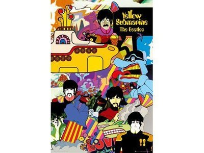 ##進口海報 30 The Beatles - Yellow Submarine 60 x 90 cm