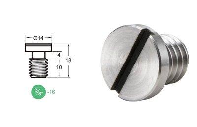 """凱西影視器材【 KUPO KS-150 18mm 快拆板螺絲 3/8""""-16螺牙 】 腳架 雲台 相機 攝影機 大顆螺絲"""