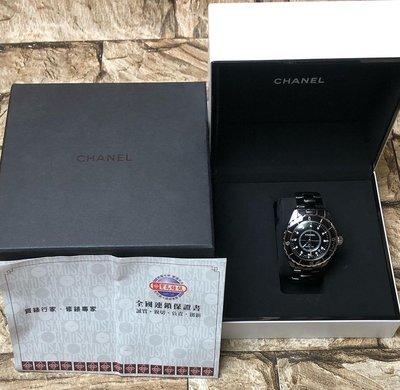 CHANEL 香奈兒 J12 H1626 12鑽 黑色陶瓷自動腕錶 38mm 高雄市