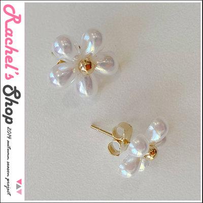 韓國空運*特價*cherrykoko花朵造型珍珠耳環[CK-CB04HWEA1]Rachel's Shop