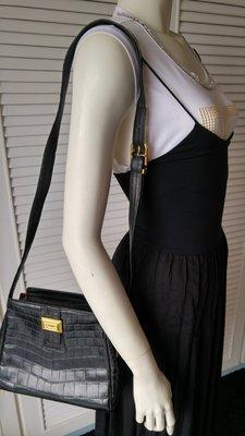 Gianfranco Ferre Crocodile Leather Shoulder Bag No 24623