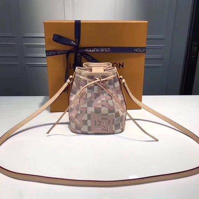 新款专柜 Louis Vuitton  M41346 背包 粉色 LV 水桶子母包