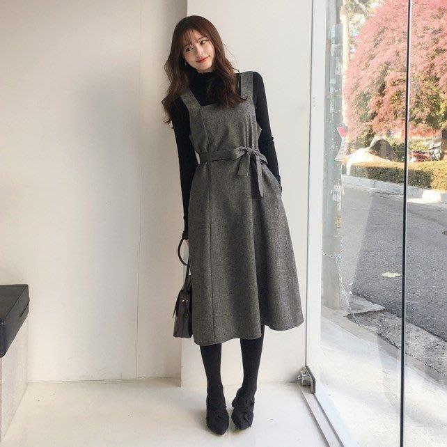 【ZEU'S】韓國冬季新款休閒百搭連身裙『 12017701 』【現+預】L