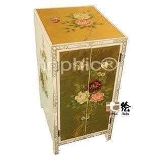 INPHIC-田園手繪白色烤漆 床頭邊櫃 儲物雜誌櫃 牆角櫃