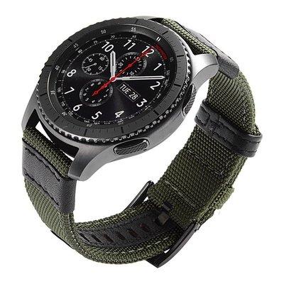佳明 Garmin Forerunner745 手錶帶 Venu 尼龍帆布紋 20mm 智能手錶帶 透氣帆布 替換腕帶