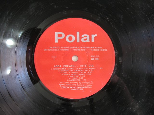 POLAR - ABBA GREATEST - 西洋歌曲 - 黑膠唱片 裸片 - 101元起標        黑膠269