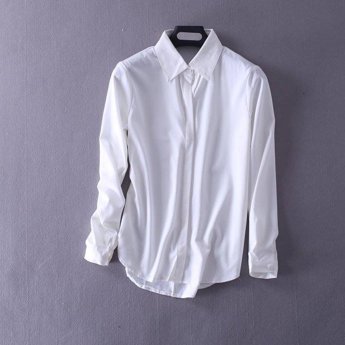 ☆°╮VS流行館╭°☆歐洲進口女人我最大VIVI雜誌推薦◎高級雪紡綢緞經典款優雅性感襯衫上衣160元(M號/L號)