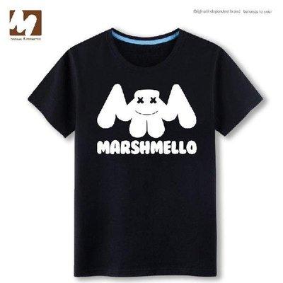 【短袖】Marshmello純棉短袖T恤footprints 電音 Skrillex同款百大DJ衣服