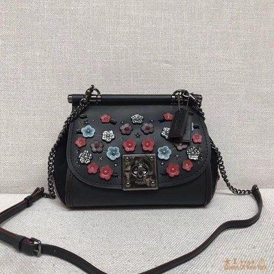 【紐約女王代購】COACH 59524 新款枊穗貼花鉻葇皮革DRIFTER 手提包 時尚精品 美國連線代購
