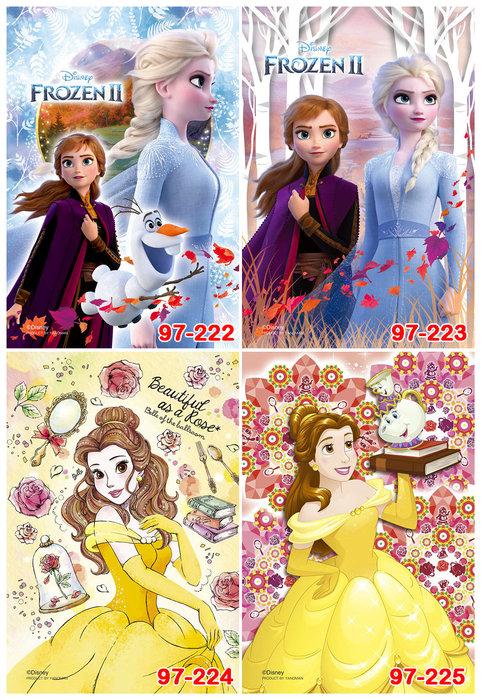 進口拼圖 迪士尼70片透明拼圖 97-222 / 97-223 冰雪奇緣 , 97-224 / 97-225美女與野獸