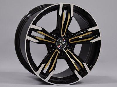 ╭☆輪鋪☆╯全新 類M6 18吋5孔120 BMW X1/X3/E46/E90/E60 黑套古銅銀邊鋁圈