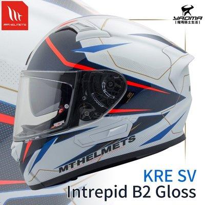 MT HELMET 安全帽 INTREPID B2 GLOSS 珍珠螢紅 內置墨鏡 全罩帽 西班牙品牌 耀瑪騎士機車部品