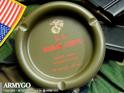 【ARMYGO】美軍軍種煙灰缸-陸軍