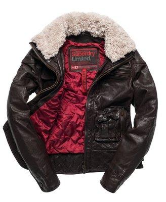 極度乾燥 Superdry Tar pit Leather Jacket 毛領可拆 厚實牛皮 真皮 皮衣 女 外套 S