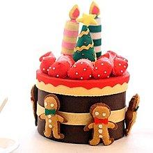 2【拼布材料包 手工DIY布藝】不織布手工布藝diy材料包聖誕尼古拉斯祝福蛋糕置物盒 禮物
