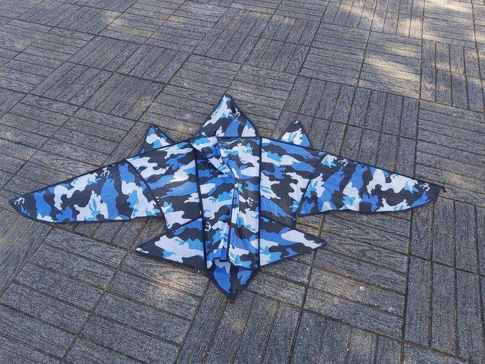 [翔飛戶外休閒]迷彩戰鬥機造型風箏---玻璃纖維骨架,超好飛風箏-- 尼龍布風箏區【直購下標區】