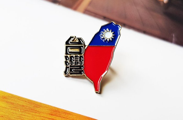 國旗徽章。大尺寸台灣X5+K01中文版X5。共10枚