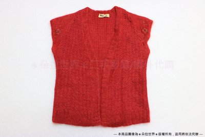 [SC-126] blow up 無袖毛衣外套 毛料外套 紅色