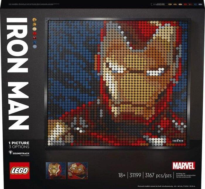 現貨 樂高 LEGO Art 31199 鋼鐵人 馬賽克藝術風格盒組 3167pcs 台樂公司貨 全新