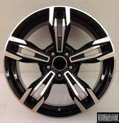 【CS-187】全新鋁圈 類M6 18吋 5孔114.3~5孔100~5孔108~5孔120 前後配 黑底車亮面