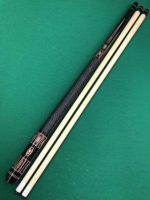 全新仿大紹 Southwest(SW) 黑檀木雕刻鑲嵌紫心木 經典扁鑽圖案 球桿 中輪21mm
