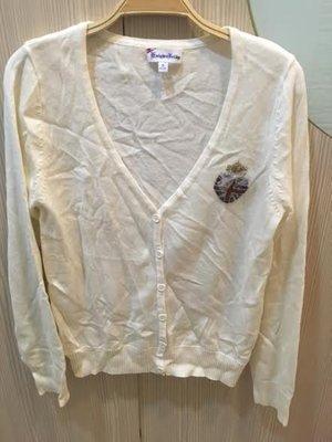 小花別針、專櫃品牌【Knights Bridge】早春白色針織外套