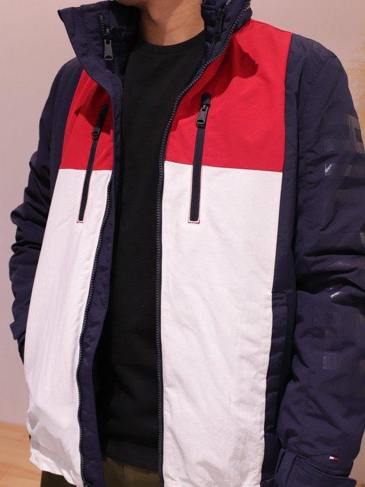 【蟹老闆】Tommy Hilfiger 100%正品 男風衣外套 夾克 三合一多功能 左右直拉鍊 藍色