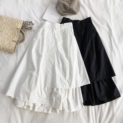 半身裙 針織裙秋冬設計款港味少女不規則裙擺氣質高腰顯瘦百搭中長款半身裙