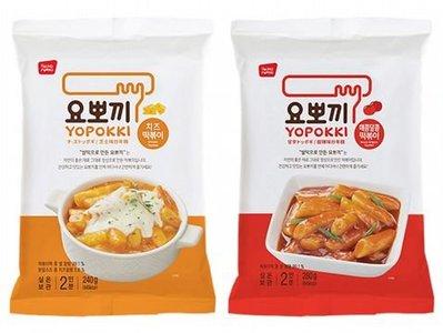 韓國 Yopokki~辣炒年糕袋裝(2人份) 芝士味(圖左)/甜辣味(圖右) 2款可選   小美