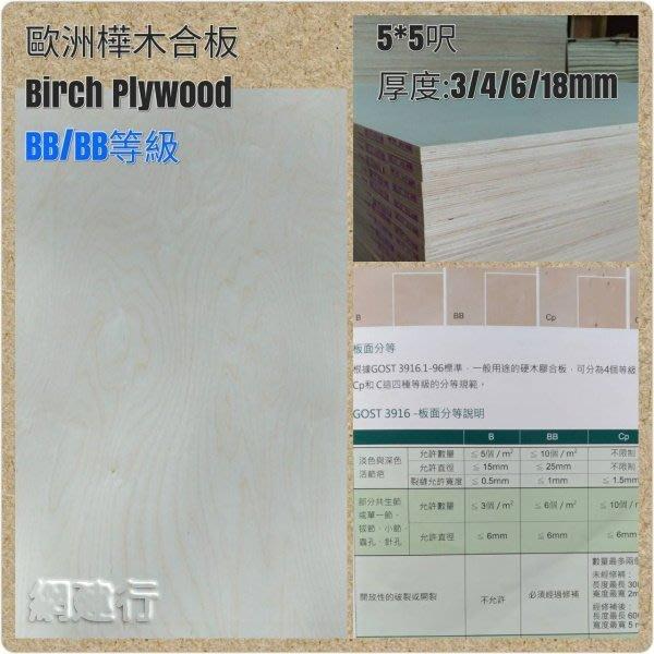 【全部可零買】網建行® PlayWood 俄羅斯【樺木合板 夾板】 1525mm×1525mmx18mm 木材加工 玩具