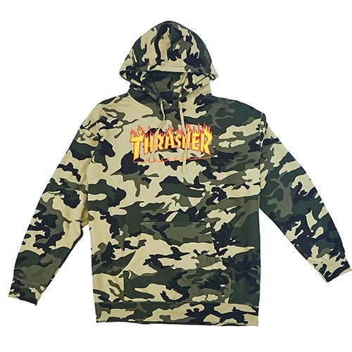 THRASHER CAMO HOODED HOPES獨家款 帽T 【HopesTaiwan】