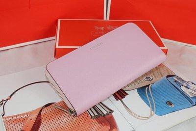 風格 COACH包 全新正品 49355 SAFFIANO時尚真皮皮夾 長夾 女士錢夾 全場特價 *附購買證明
