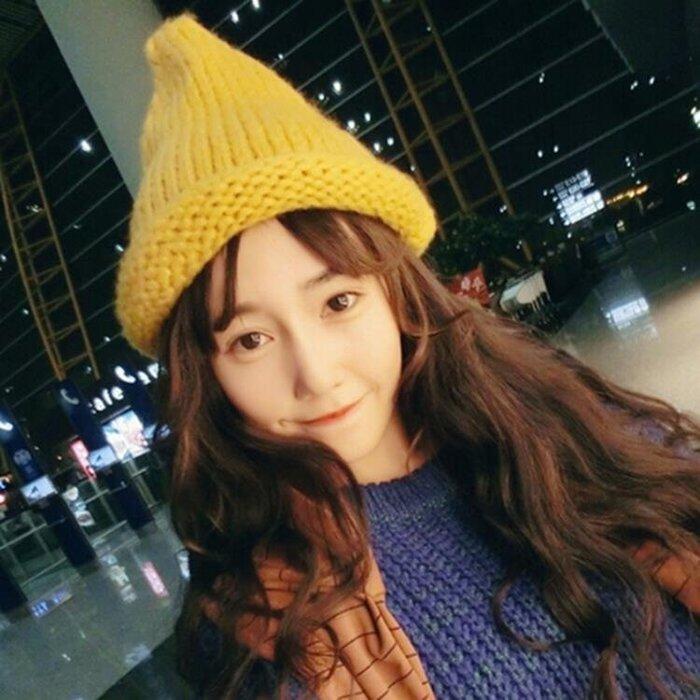 帽子女秋冬可愛帽韓國毛線帽韓版潮針織帽冬天保暖尖尖帽女巫師帽
