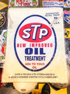(I LOVE樂多)日本進口 美國經典賽車石油品牌 STP 束口袋 手提袋 隨身包 鞋袋 運動袋