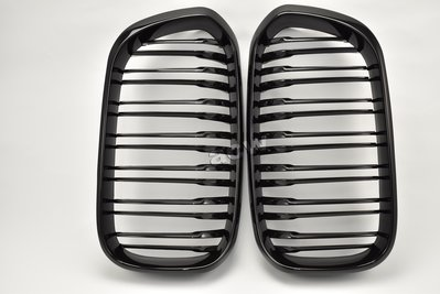 For F20 F21 LCI M LOOK 15~ GRILLES SHINY BLACK 水箱罩 全亮高級黑烤漆