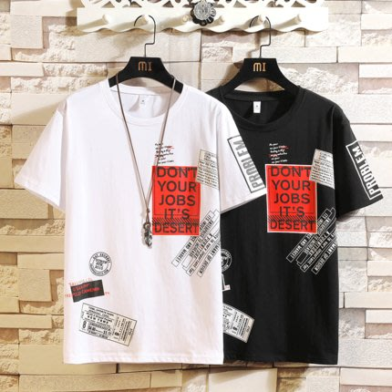 [C.M.平價精品館]M~3XL新品特價/時尚有型舒適百搭純棉短袖T恤  加大碼
