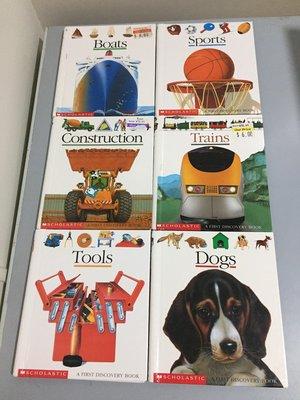童箱01《好書321KB》理科第一個發現+地圖的第一個發現英文版工具+狗+猩猩+船+消防車共10本合售/童書繪本