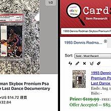 🐛1993-94 Skybox Premium #70 Dennis Rodman