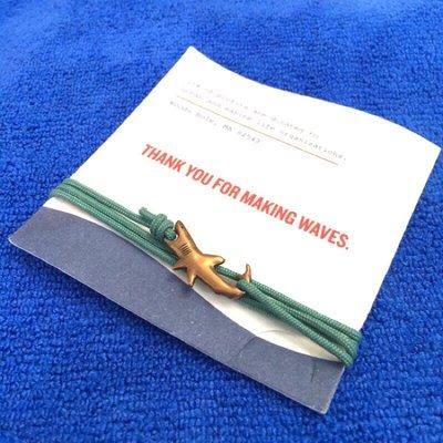鯊魚 手鍊 現貨  手環  青銅  Cape Clasp 美國品牌 海洋保育 大白鯊 繩鍊 無塑 手環