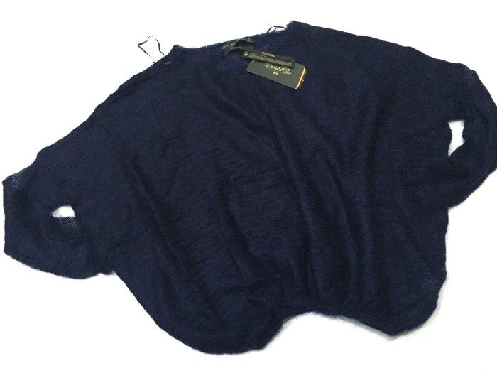 全新未穿 Zara 深藍色飛鼠袖毛衣 M號
