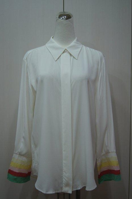 Chloe 白色彩袖拼接絲衫     原價   46700    特價 9000