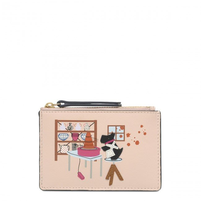 Coco小舖英國 Radley London Gone Potty small coin purse 粉色小零錢包