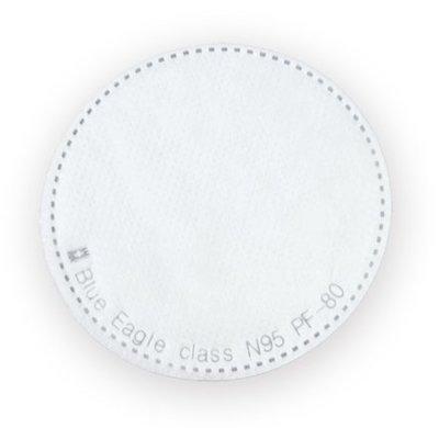 【威威五金】1片】全新 台灣 藍鷹牌 直徑約 80mm 超細纖維防塵片 防毒面具用濾棉 N95 口罩過濾棉 PF-80 高雄市